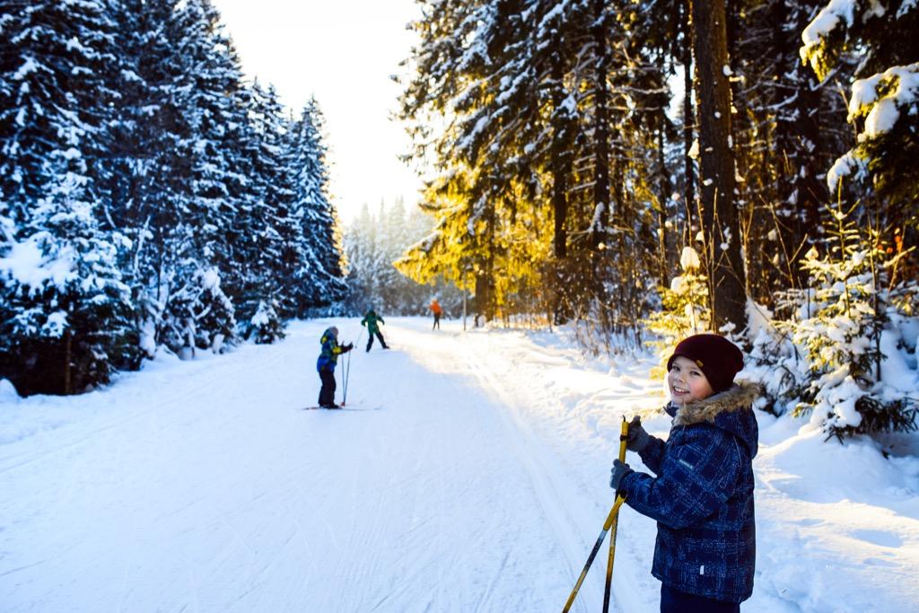 Skiing Child Parenting