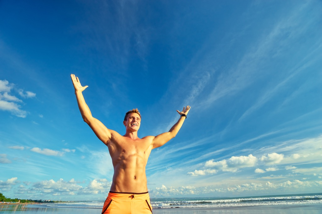 Fit guy energized without coffee self-care tips