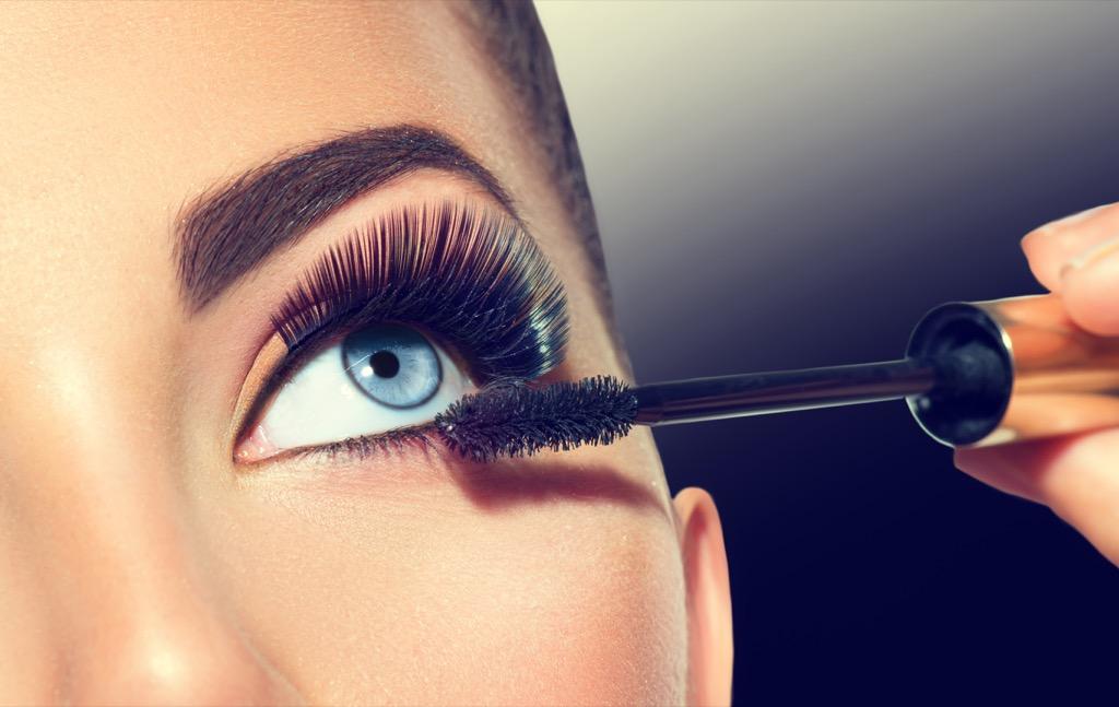 mascara makeup woman