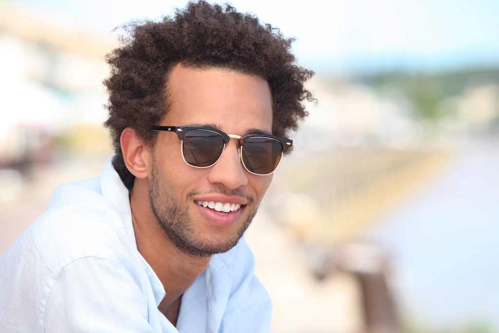 Man outside wearing sunglasses