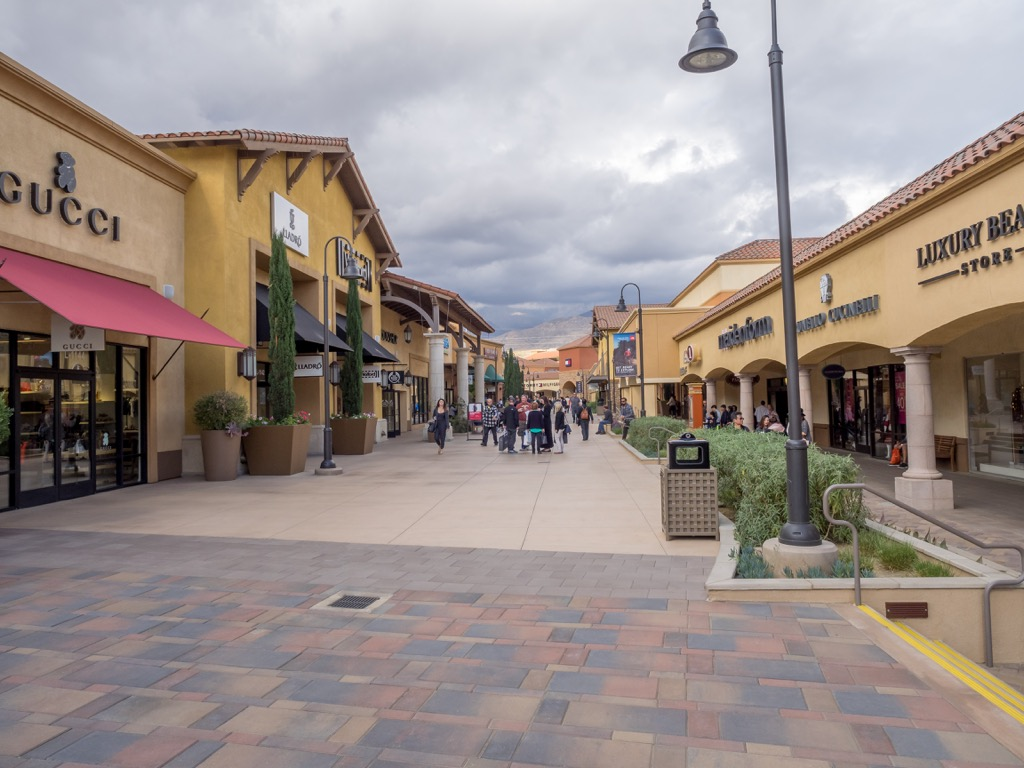 Outlet mall to save money on clothes