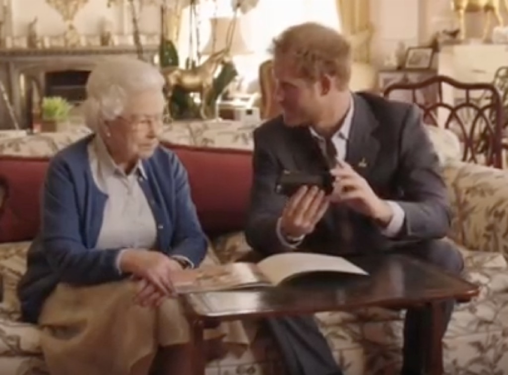 Queen and Prince Harry