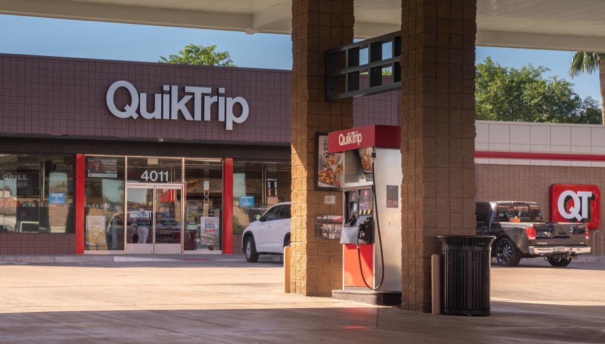 quiktrip gas station sign