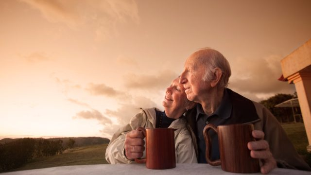 Older Couple during Sunset