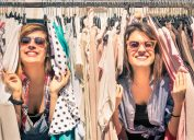 women shopping for clothes help the earth