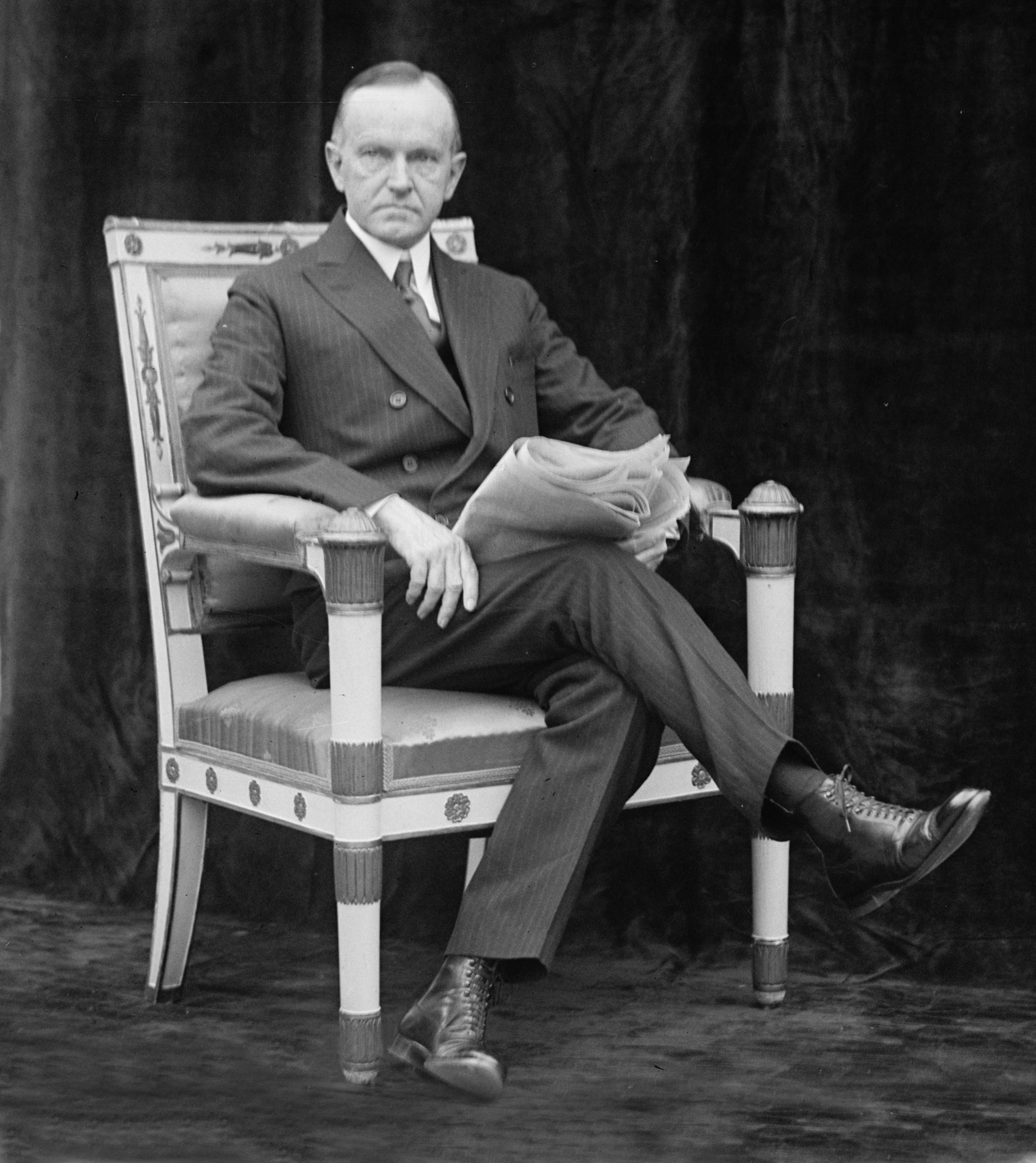 Former President Calvin Coolidge