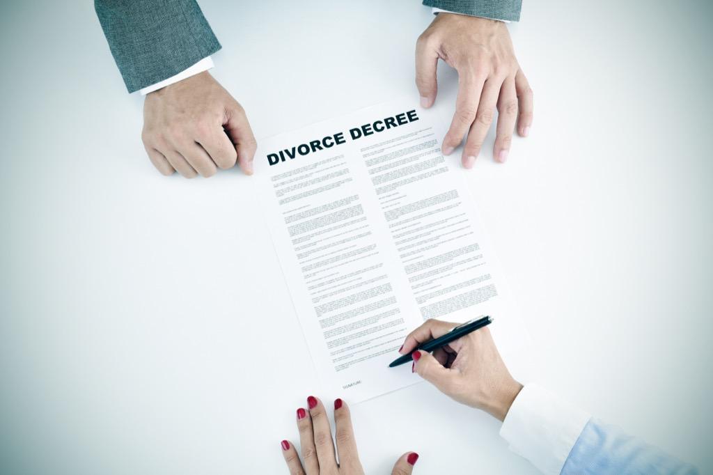 divorce over 40
