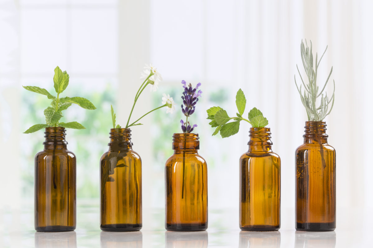 Essential Oils with Fresh Herbs - how to fight seasonal depression