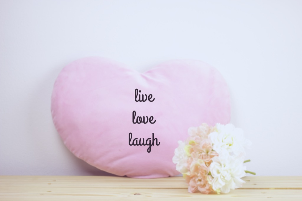 Pillow With Cliche Sayings