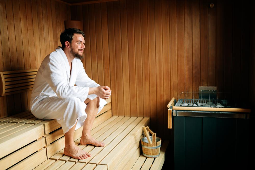 hot guy in sauna