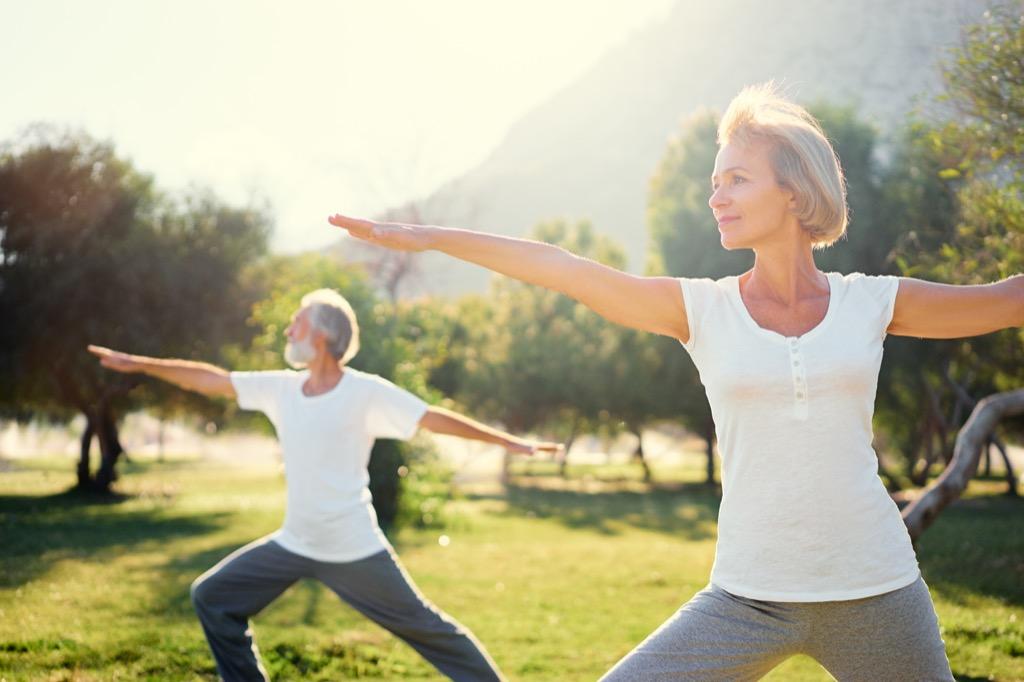 women doing yoga, long marriage tips