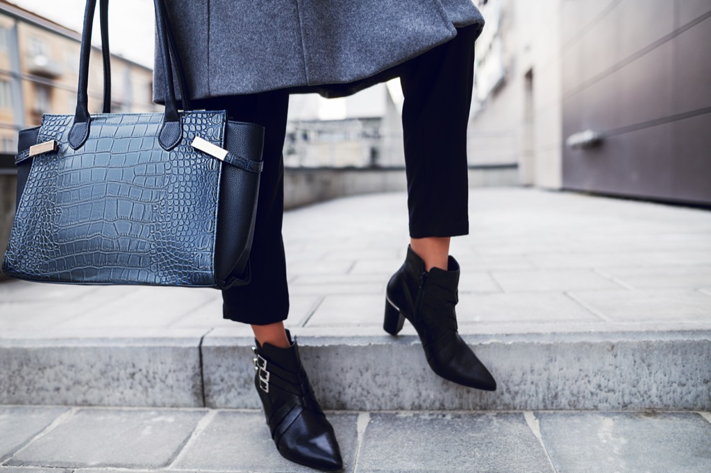 tailored pants, booties, and bag - how to dress over 50