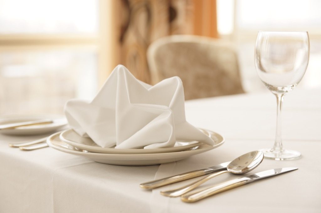 napkin Things You Should Always Do at a Fancy Restaurant