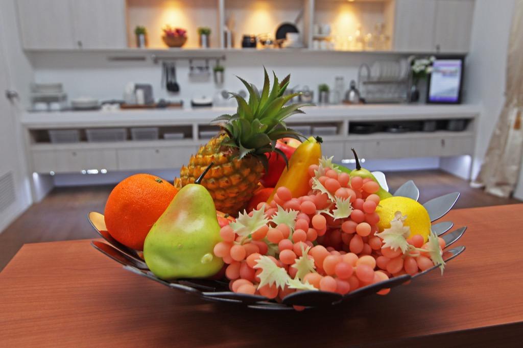 Fake Fruit in The Kitchen worst interior design trends