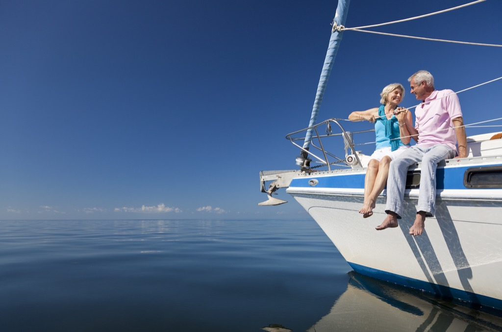 Senior Couple on Yacht