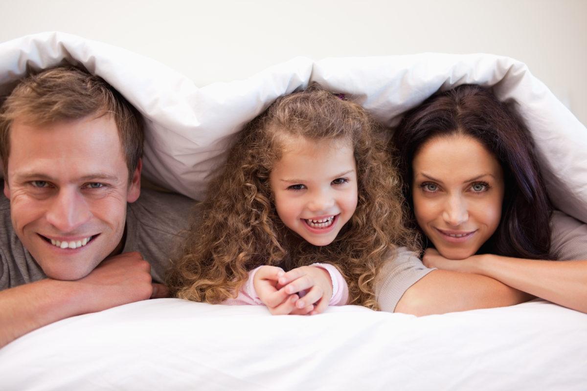 Family in Blanket