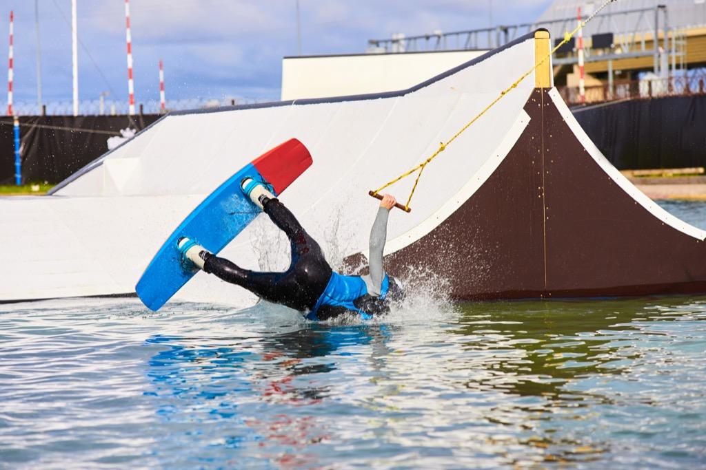 wakeboard fail blooper