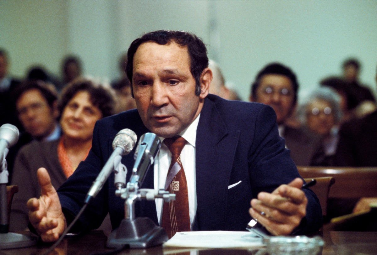 willie pep at the federal boxing hearing in 1979