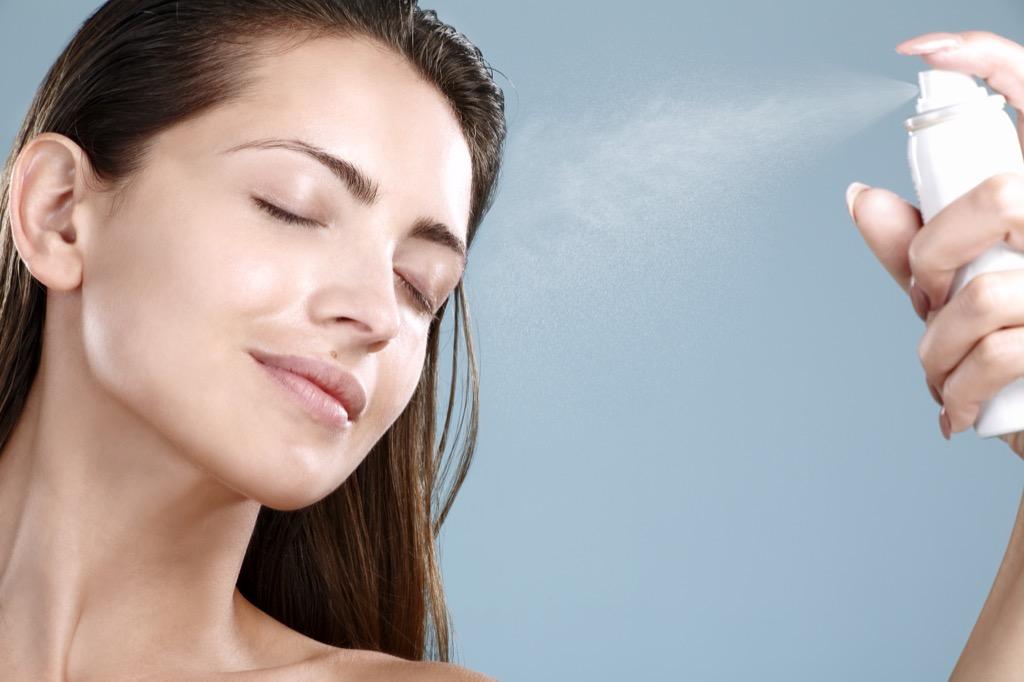 woman face spray