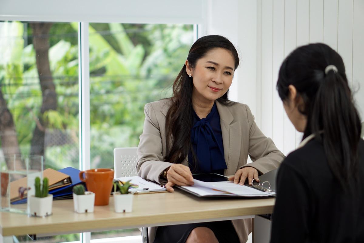 woman interviewing potential employee, hiring manger tips