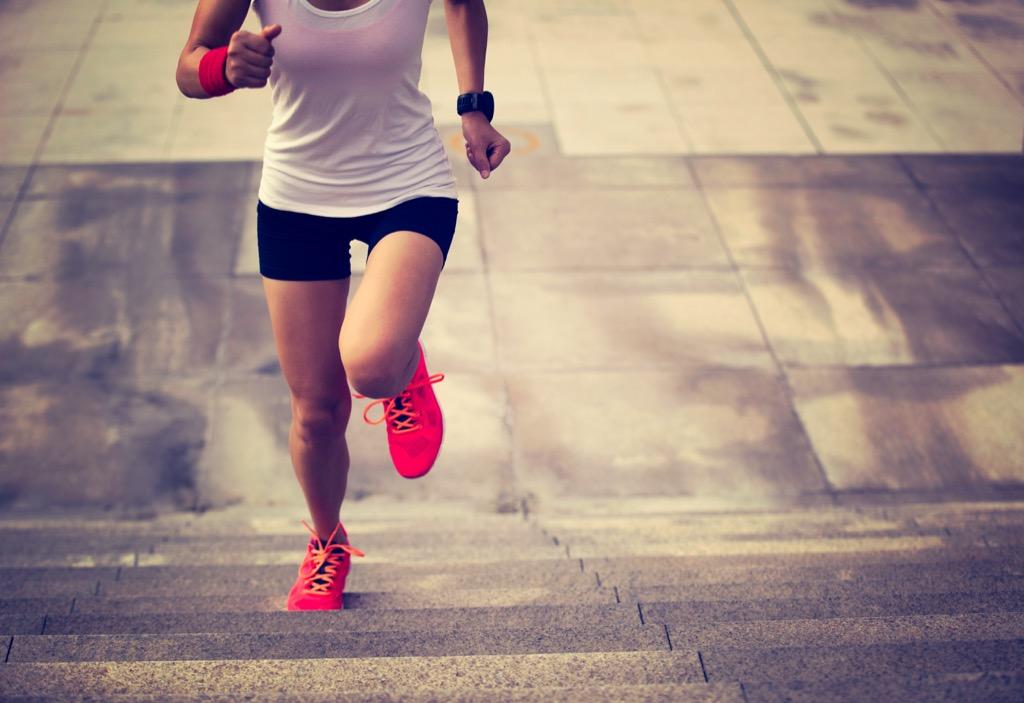 Woman Running Up the Stars {Weight Loss Secrets}