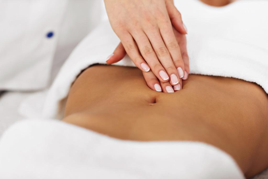red carpet ready stomach massage
