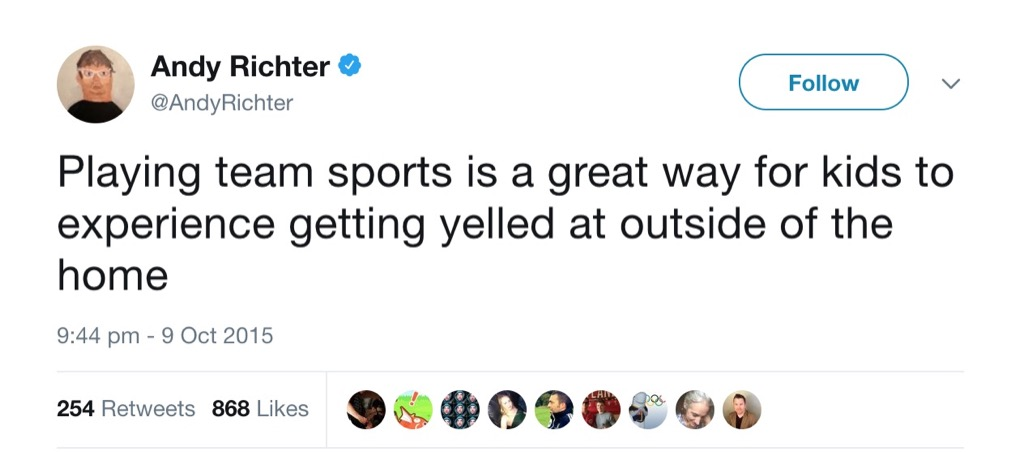 Andy Richter Funniest Parenting Tweets