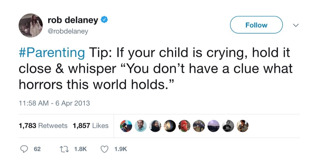 Rob Delaney Funniest Parenting Tweets