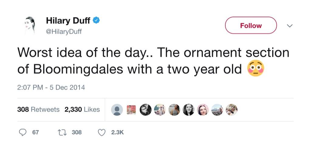 Hilary Duff Funniest Parenting Tweets