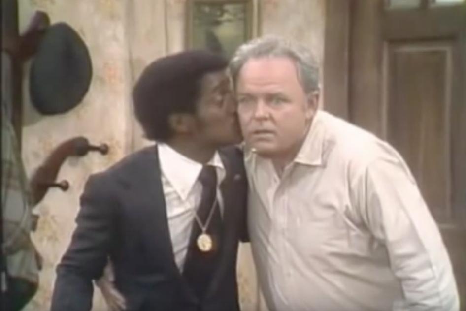All in the Family Sammy Davis Jr Kiss Funniest Sitcom Jokes