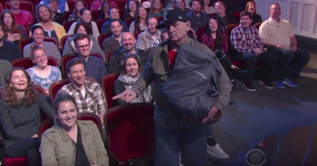 Bill Murray crashes Stephen Colbert Late Night