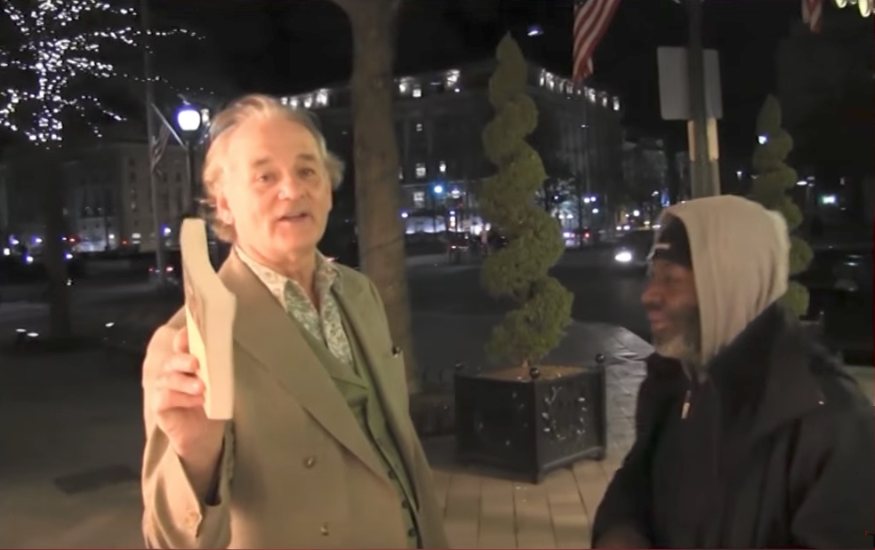 Bill Murray Throws Phone Off Roof