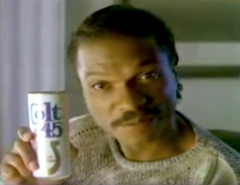 Billy Dee Williams Colt 45 Celebrity Commercials