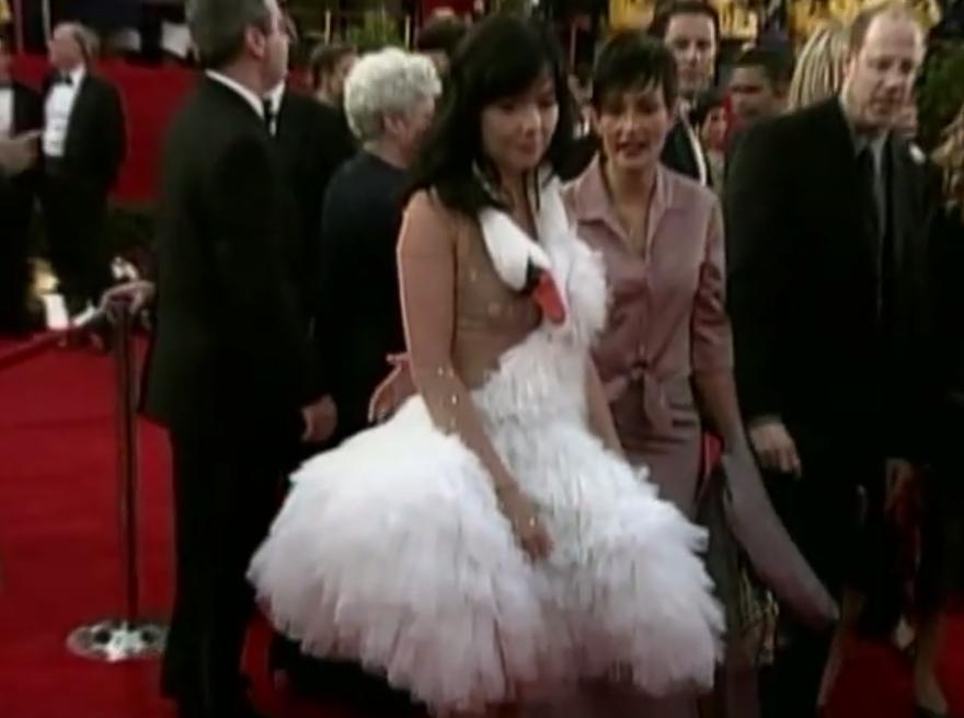 Bjork Swan Dress Oscars Jokes