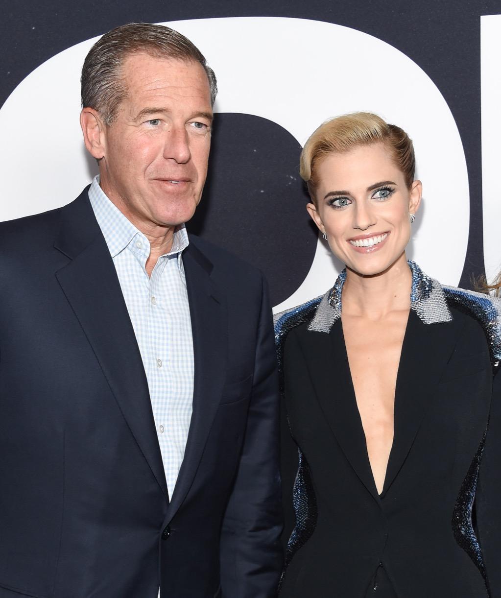 NBC News anchor Brian Williams and daughter Allison Williams