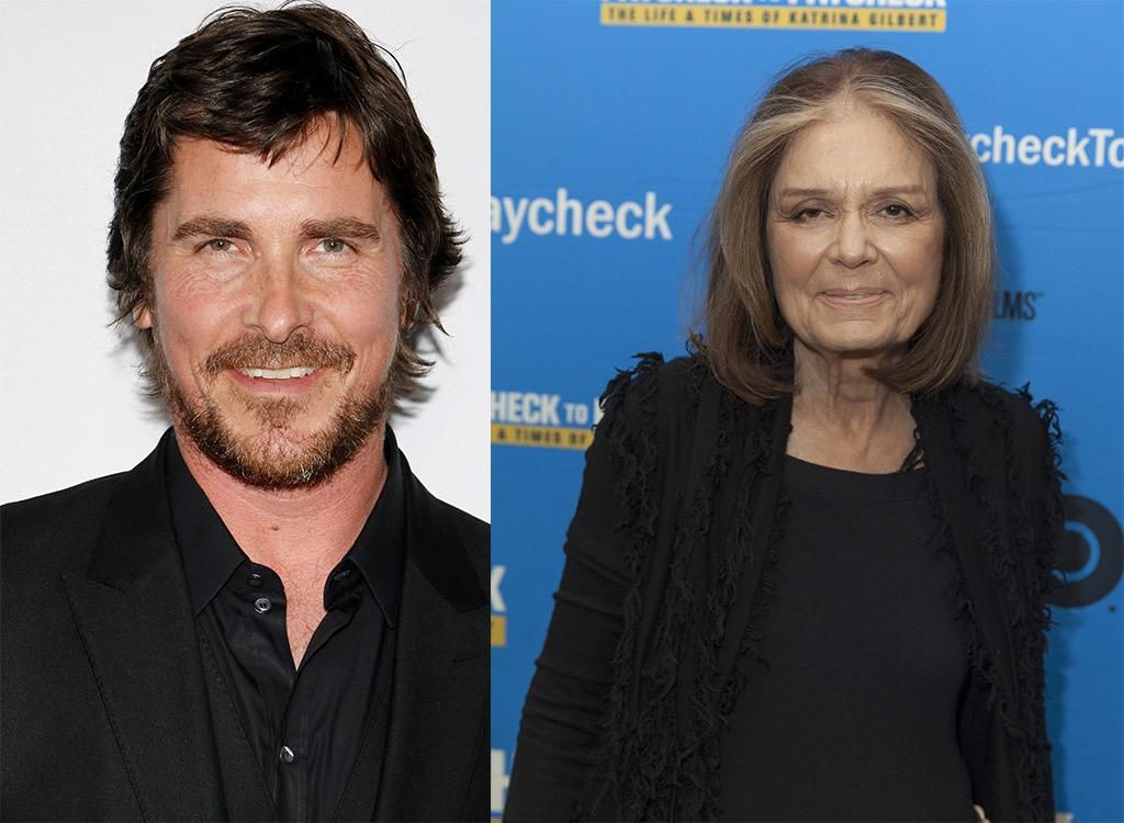 Christian Bale stepmother Gloria Steinem