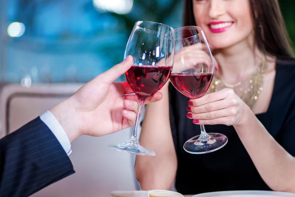 Couple Clinking Glasses Romance