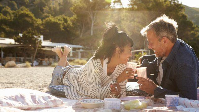 Couple Having Picnic Valentine's Day simple pleasures