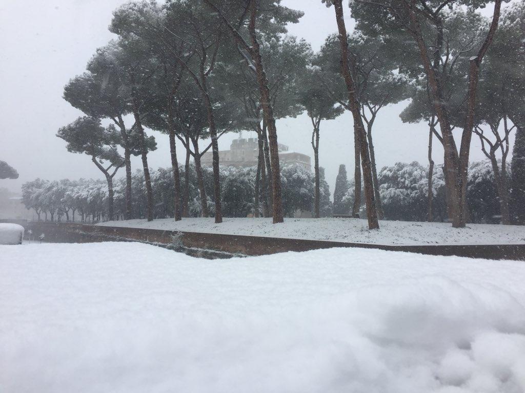 snow covers mausoleum of hardian