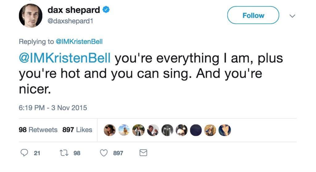 Dax Shepard funniest celebrity marriage tweets