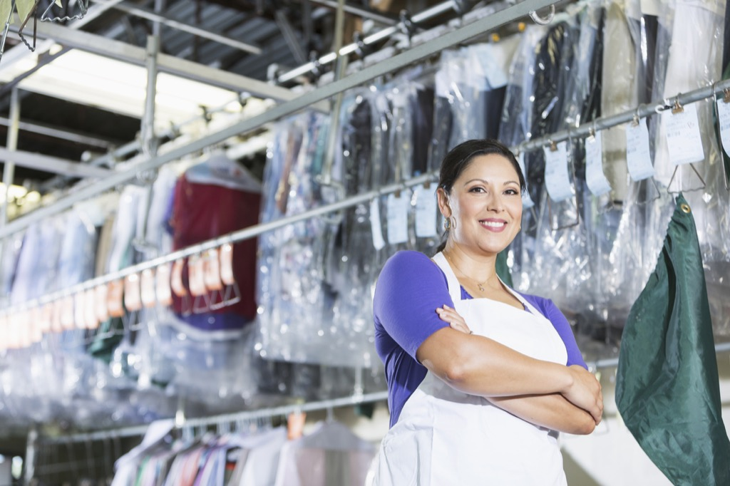 Dry cleaning shop