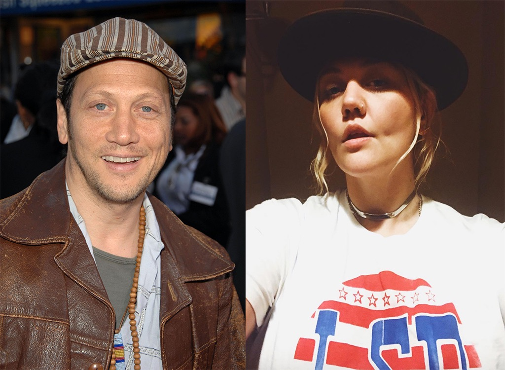 Singer Elle King and father Rob Schneider