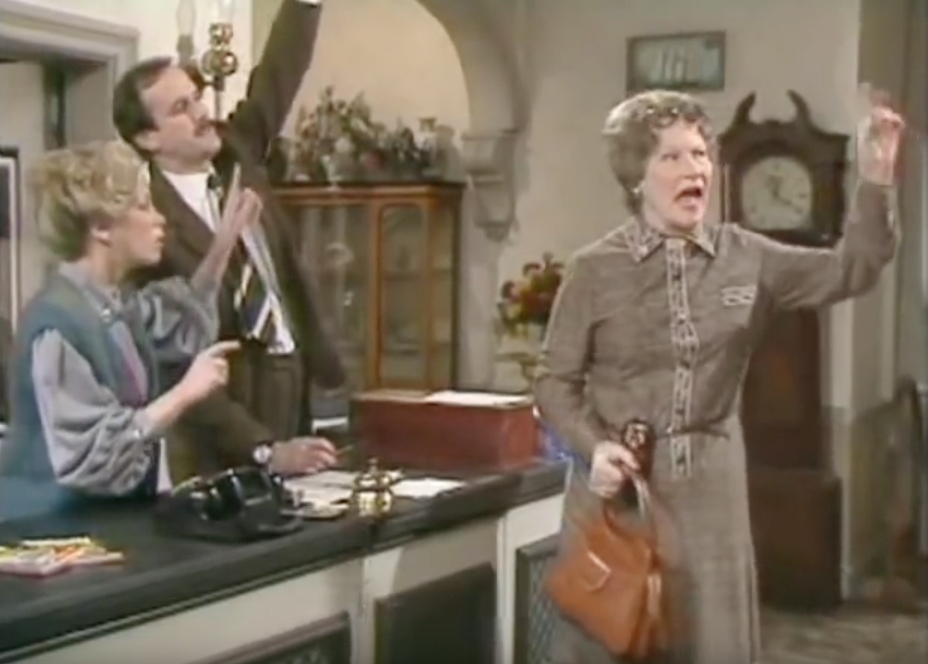 Fawlty Towers Deaf Guest Funniest Sitcom Jokes