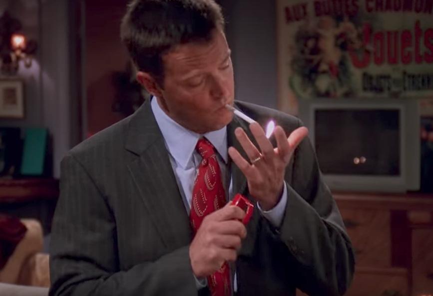 Friends Chandler Smoking Funniest Jokes From Friends