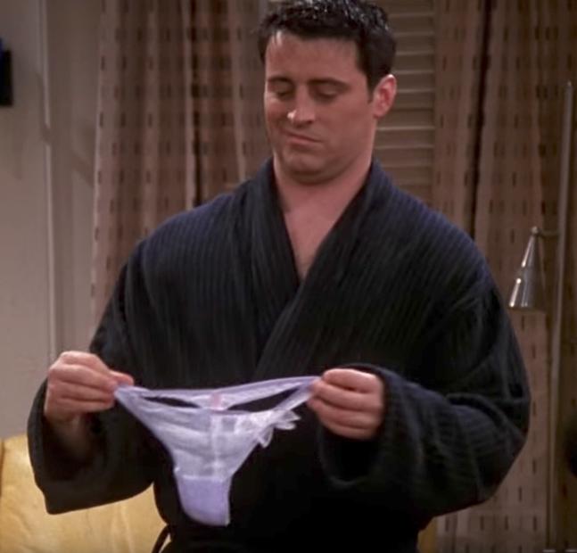 Friends Joey with Women's Underwear Funniest Jokes From Friends