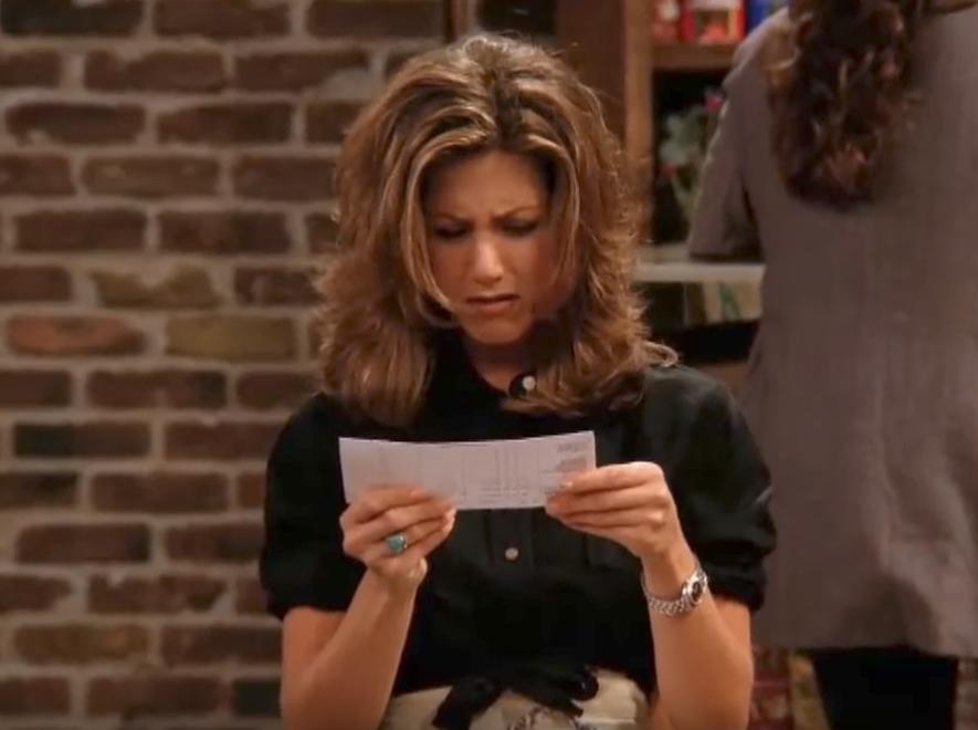 Friends Rachel's First Check Funniest Jokes From Friends