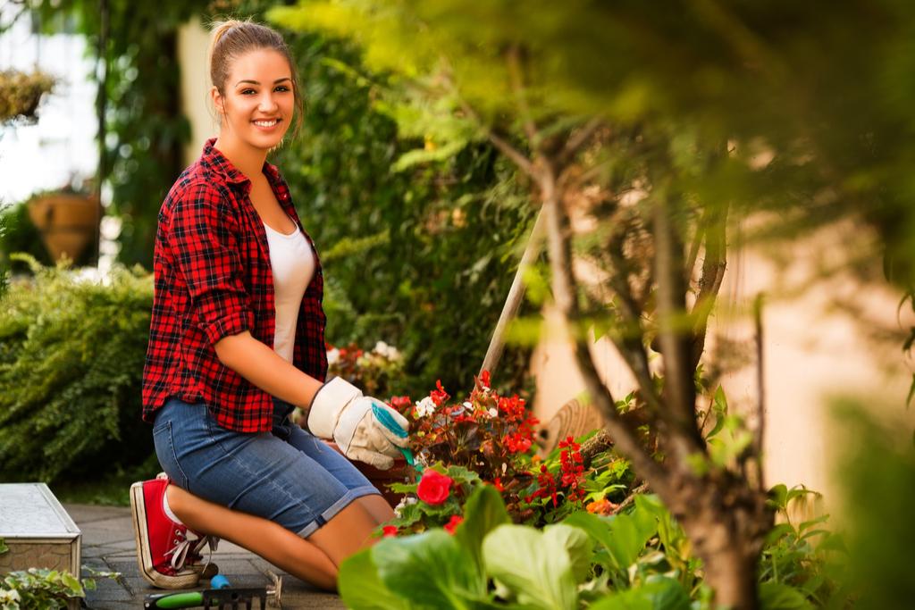 Girl Gardening Valentine's Day