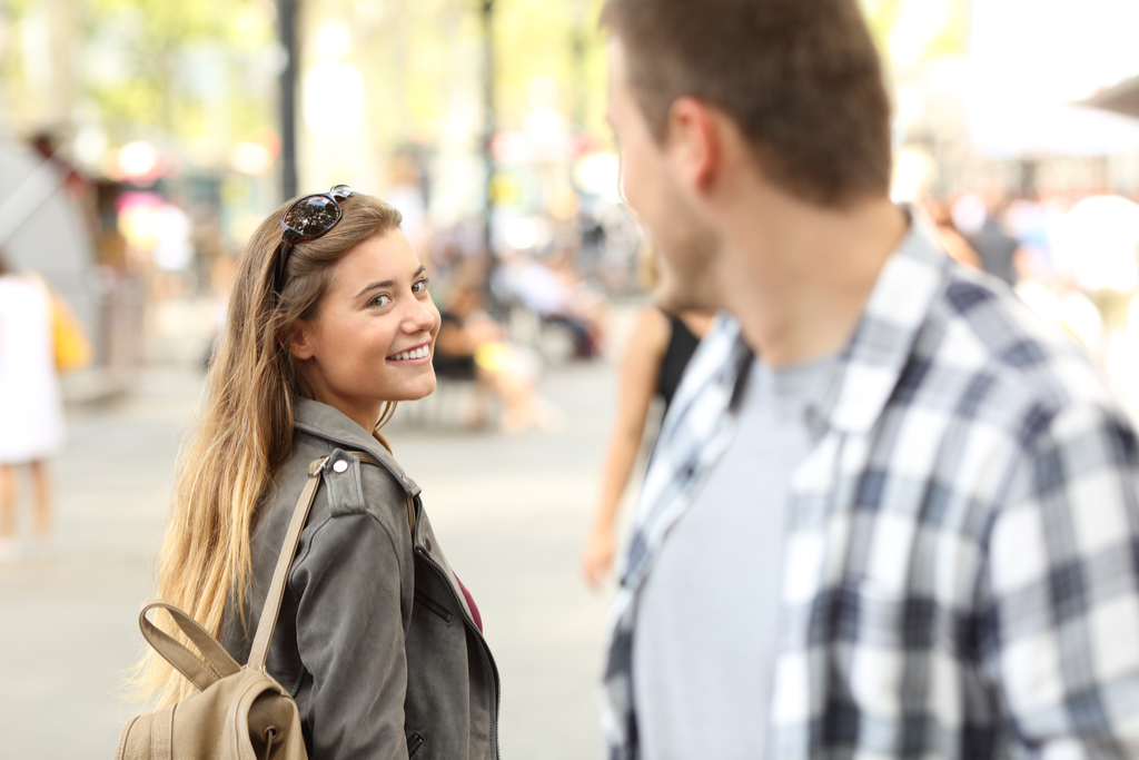 Girl Smiling at Stranger Reasons Smiling is Good for You