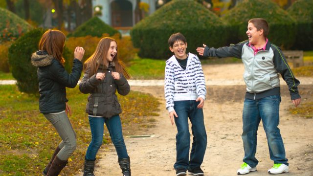 Group of Kids Laughing