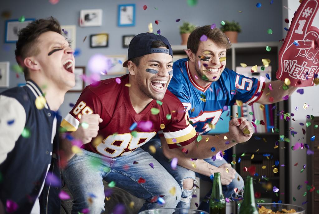 Guys Watching Football